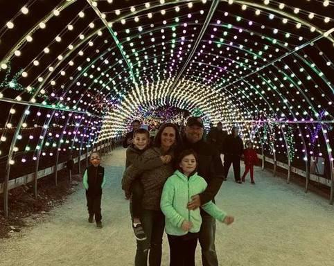 Lights on the Farm light tunnel